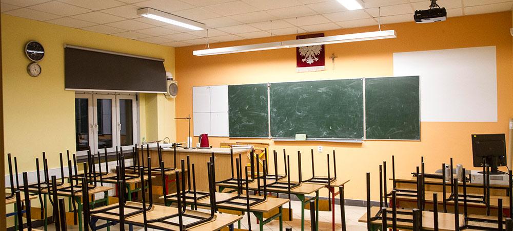 Klasa w gimnazjum w Karolewie