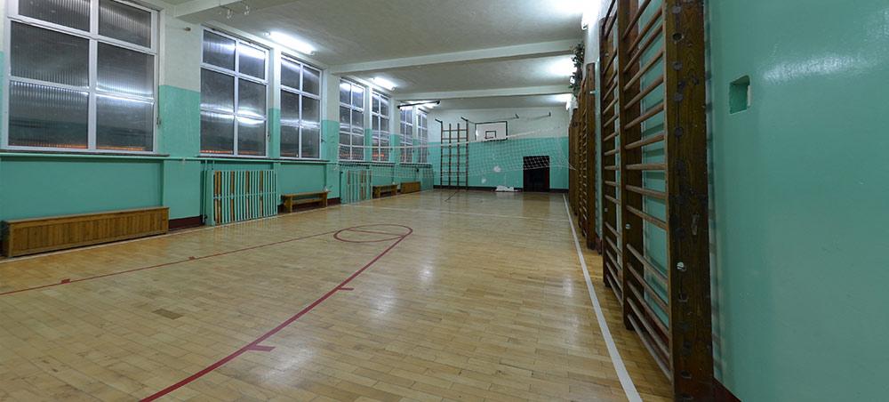 Sala gimnastyczna w szkole w Resku