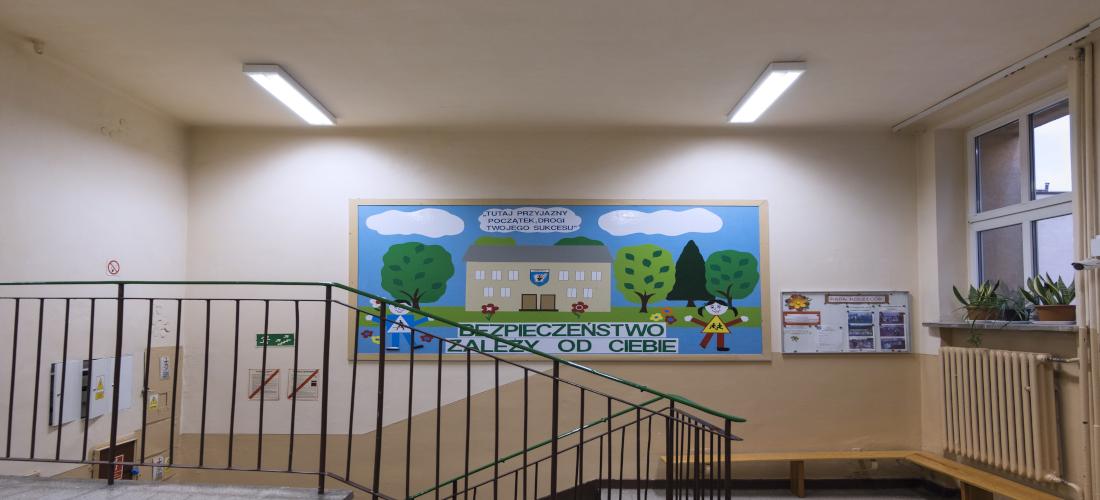 Korytarz w Szkole w Złocieńcu