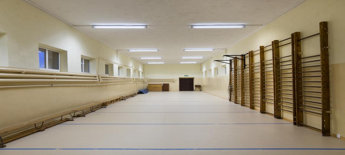 Mała sala gimnastyczna w Szkole w Złocieńcu