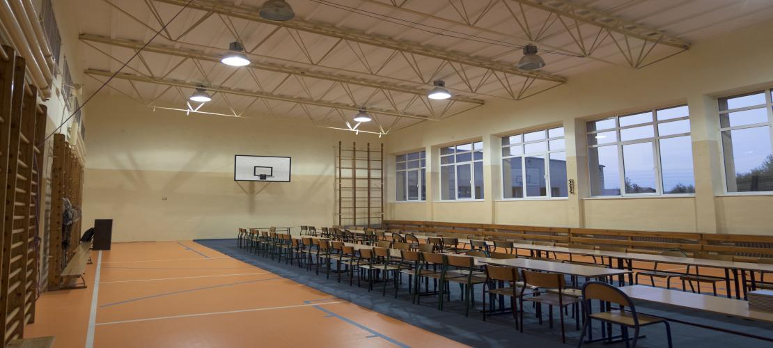 Duża sala gimnastyczna w Szkole w Złocieńcu